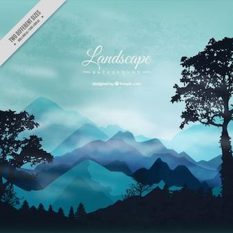Realistico foresta paesaggio di sfondo