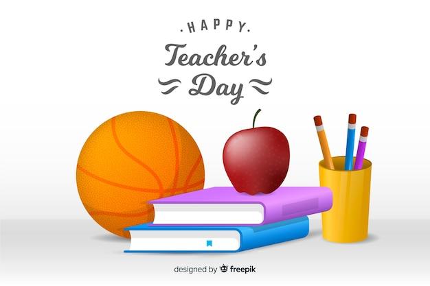 Realistico giorno degli insegnanti sullo sfondo
