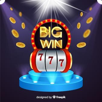 Realistico grande sfondo slot vittoria