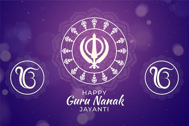 Realistico guru nanak jayanti concept