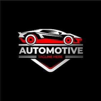 Realistico logo metallico auto
