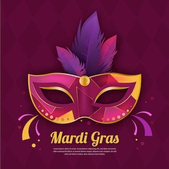 Realistico mardi gras con maschera