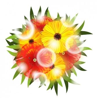 Realistico mazzo di fiori