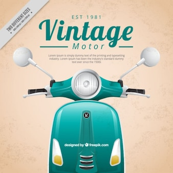 Realistico motore dello scooter vintage background