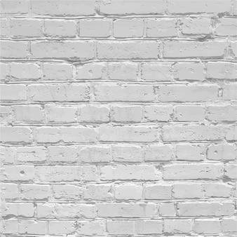 Realistico muro di mattoni bianchi texture