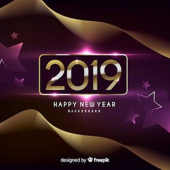 Realistico nuovo anno 2019 sfondo