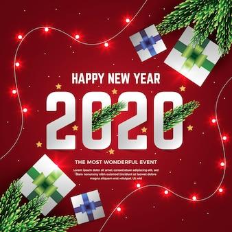 Realistico nuovo anno 2020