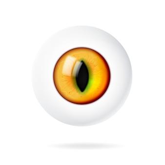 Realistico occhio 3d di un animale o un gatto.
