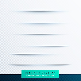 Realistico ombre di carta effetto sfondo di raccolta
