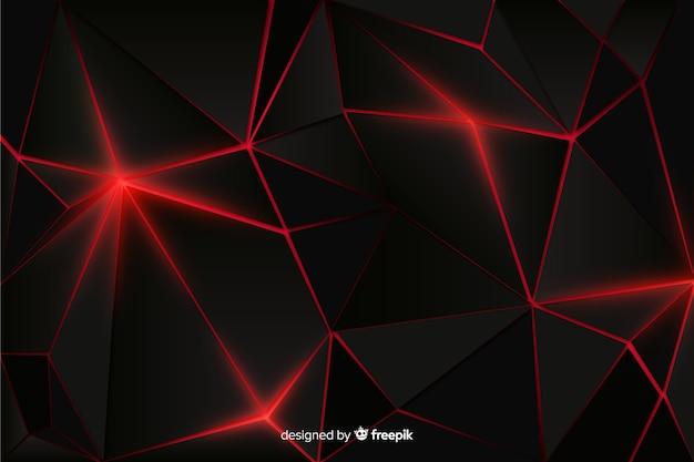 Realistico scuro poligonale