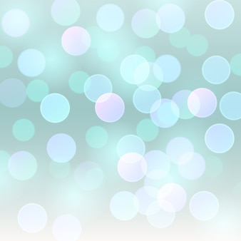 Realistico sfondo astratto con luci bokeh