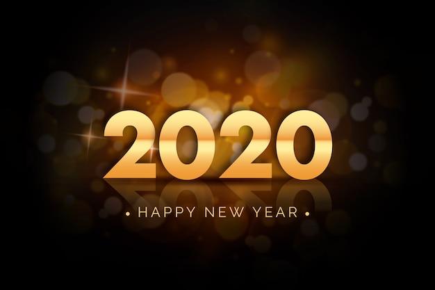Realistico sfondo del nuovo anno 2020