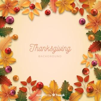 Realistico sfondo di ringraziamento