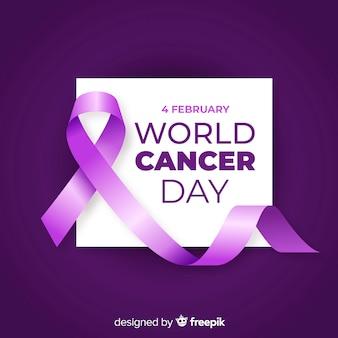 Realistico sfondo giornata mondiale del cancro