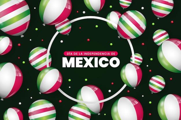 Realistico sfondo giorno dell'indipendenza mexic