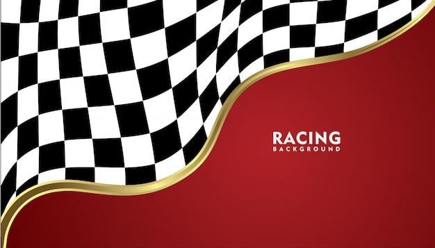 Realistico sfondo metallico oro da corsa, racing sfondo quadrato
