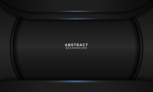 Realistico sfondo nero con luce blu