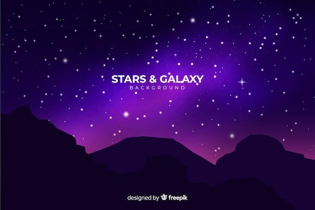 Realistico sfondo notte stellata