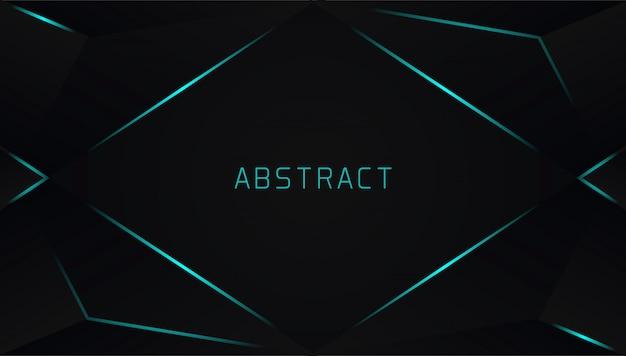 Realistico sfondo triangolare con linea fulmine blu
