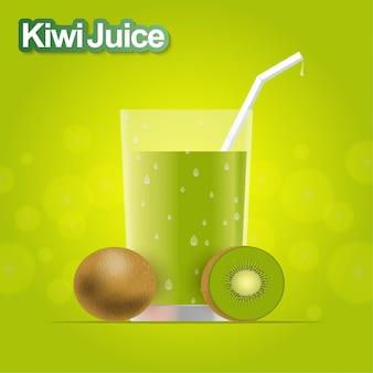 Realistico succo di kiwi