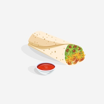 Realistico taco burrito food