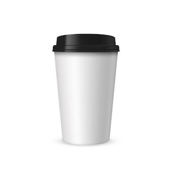 Realistico tazza di carta per caffè