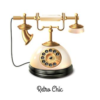 Realistico vecchio telefono