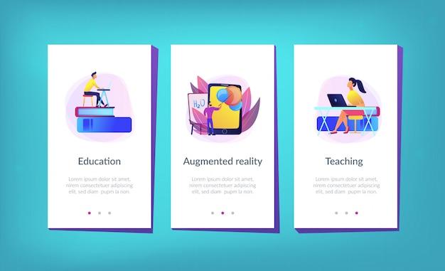 Realtà aumentata nel modello di interfaccia dell'app per l'istruzione.
