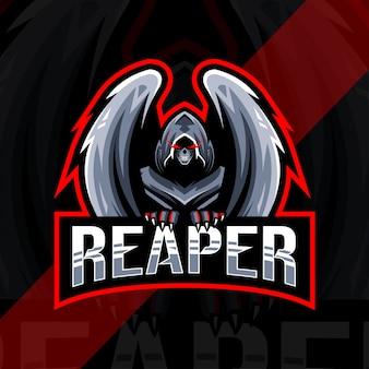 Reaper mascotte logo design esport