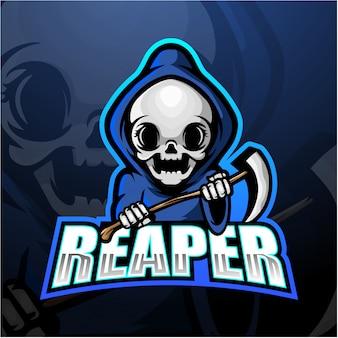 Reaper teschio mascotte esport illustrazione