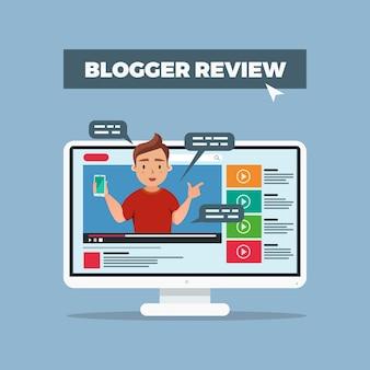 Recensione di blogger sui social media