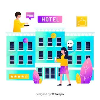 Recensione sfondo piatto dell'hotel