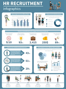 Recruitment hr people infographics