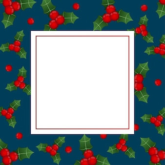 Red berry christmas su indigo blue banner card