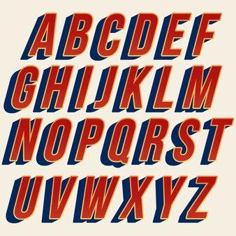 Red font tipografia retrò