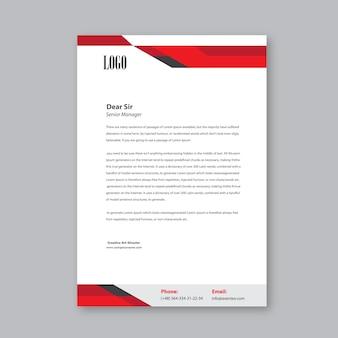 Red head design semplice lettera