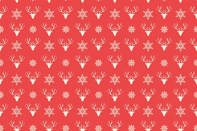 Red merry christmas pattern seamless