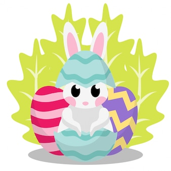 Regalo carta regalo sveglio di coniglio giorno di pasqua