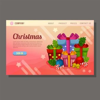Regalo di natale regalo promozionale landing page regalo presente