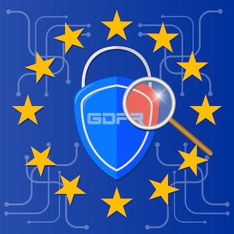 Regolamento generale sulla protezione dei dati del gdpr. tecnologia di sicurezza.