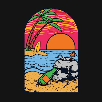 Relax in spiaggia t-shirt design