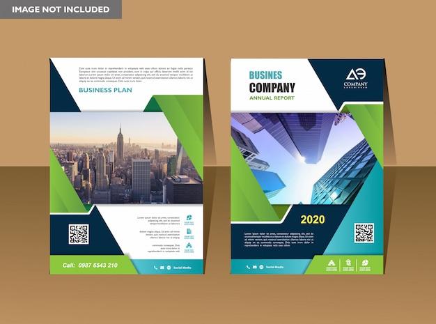 Relazione annuale del fondo del manifesto dell'aletta di filatoio del layout dell'opuscolo del libro di copertina