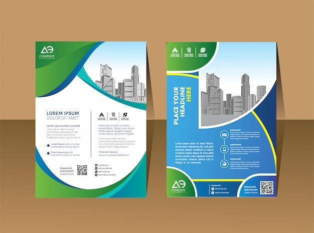 Relazione annuale della disposizione dell'opuscolo del libro della copertura