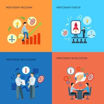 Relazioni pubbliche di affari nel concetto di programma startup di mentorship di istruzione