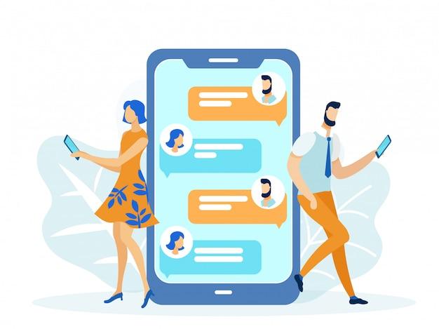 Relazioni romantiche online, messaggi di testo per ragazze e ragazzi.
