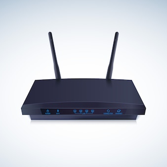 Rendering 3d di un router wireless realistico