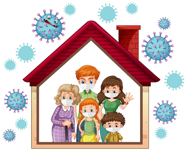 Resta a casa per prevenire il coronavirus