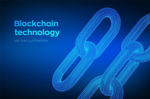 Resto con codice binario, concetto blockchain,