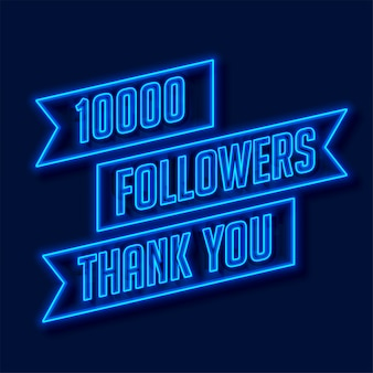 Rete di 1000 follower grazie poster