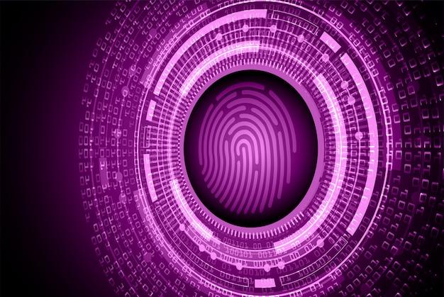 Rete di impronte digitali cyber sicurezza sfondo. lucchetto chiuso